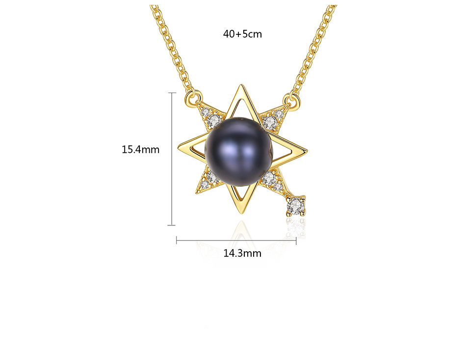 S925 sterling silver necklace female clavicle chain fashion freshwater pearl pendant necklace GN01