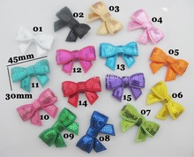 FZ0034 NEWLY 3mm sequins sequin bow 1.8*1.2 Appliques 75pcs mix colors Hair Bows Girls Accessories