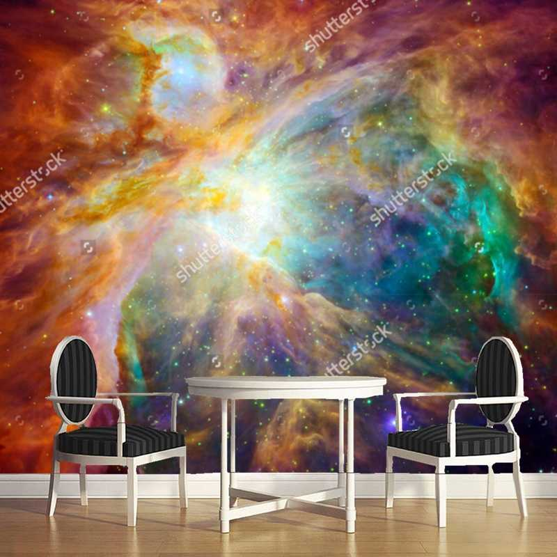 Universe  wallpaper, 3D modern landscape for the living room dining room ceiling background wall waterproof wallpaper