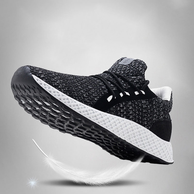 MIUBU Spring Sneakers Men Shoes 2019 New Summer Fashion Lace Up Weave Casual Mesh Breathable Sport Footwear Flats Men 39 s Shoes in Men 39 s Casual Shoes from Shoes