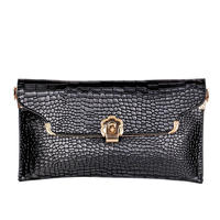 Women Clutch Bags Vintage Leather Crocodile Pattern Envelope Fashion Clutch Purse Shoulder Ladies Small Messenger Handbag