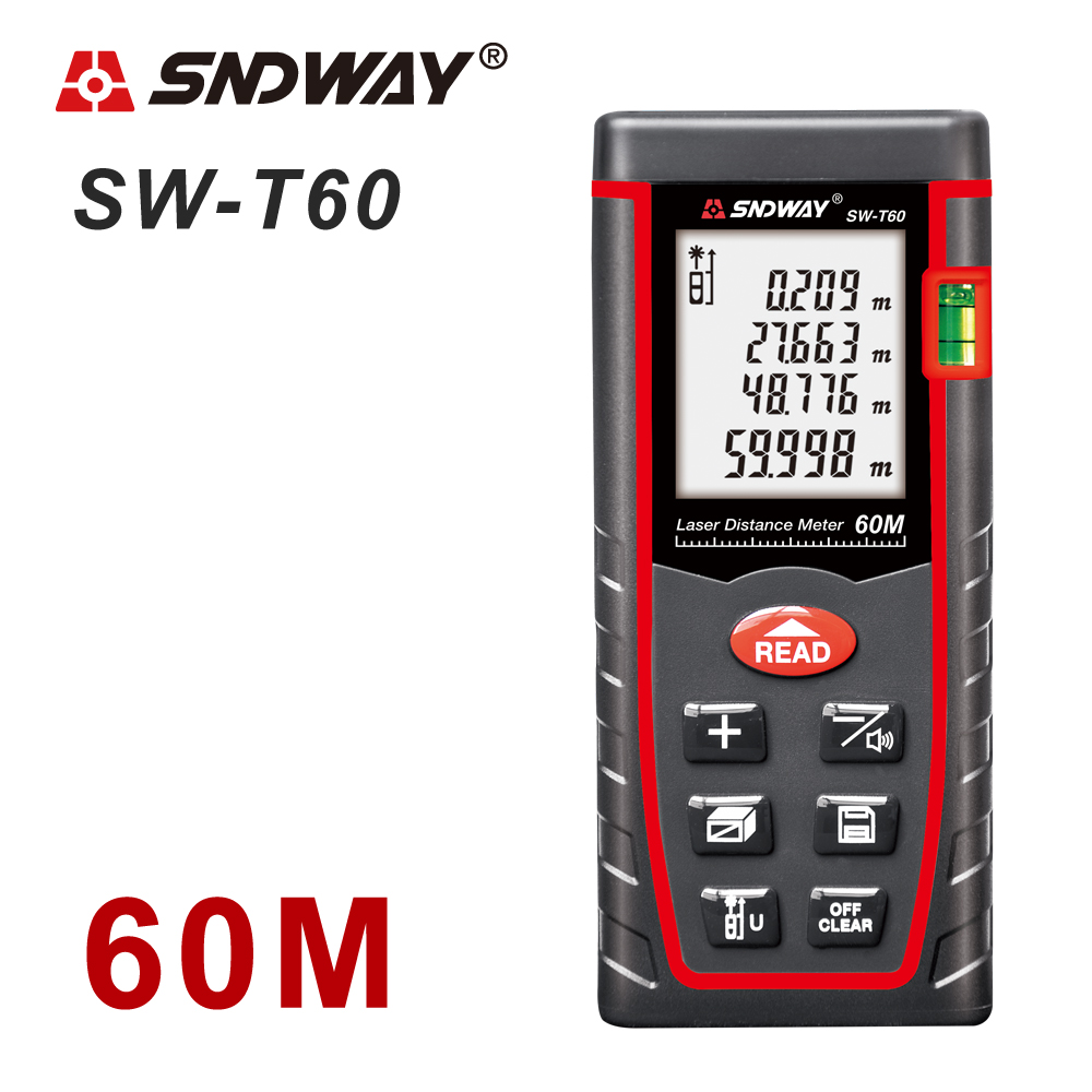 SNDWAY Laser Distance Meter 40-120M with LCD and Auto Power Off to Measure Wide Range Area 14