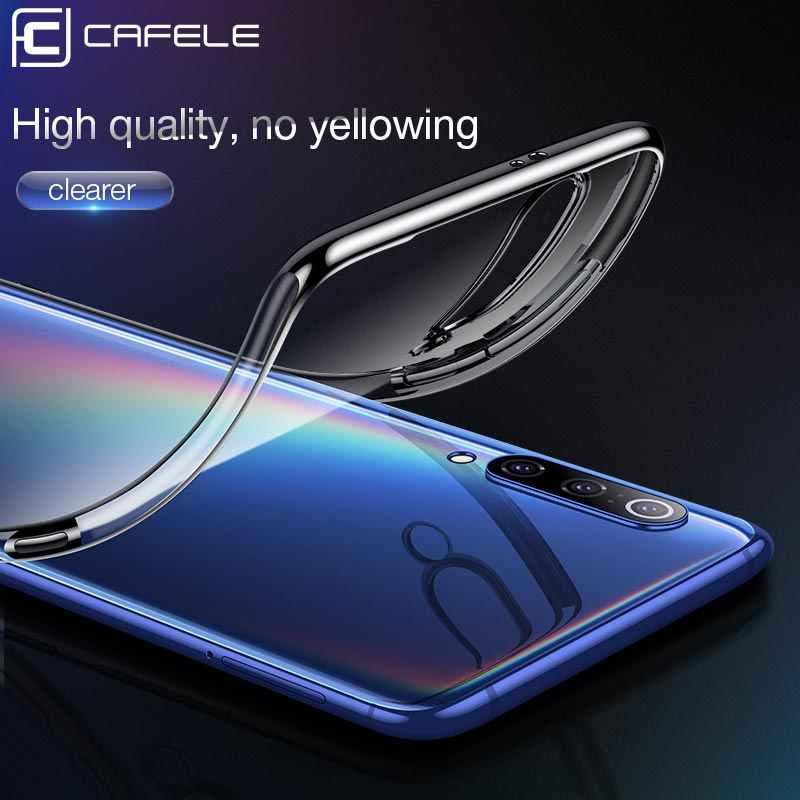 CAFELE Plating Case voor Xiao mi mi 9 mi 9 soft tpu Cover VOOR Xiao mi Mi 9 mi 9 ultra dunne gladde Transparante Anti-fingerprint Case