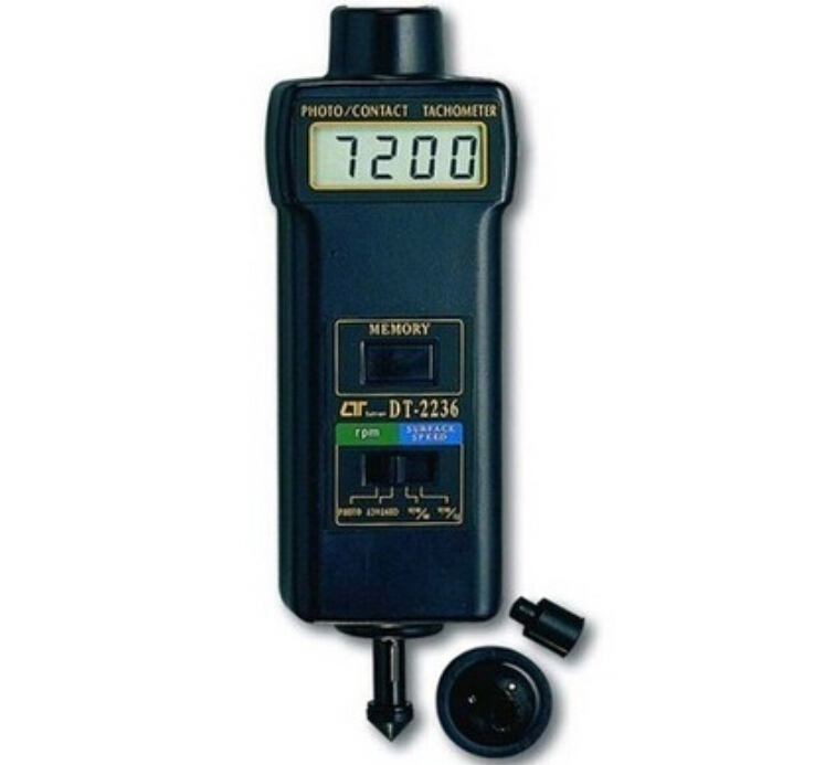 Tachometer DT-2236 Digital Revolution Meter Photoelectric / Exposure To Dual-use Tachometer DT2236 dt 2856 photo touch type tachometer dt2856