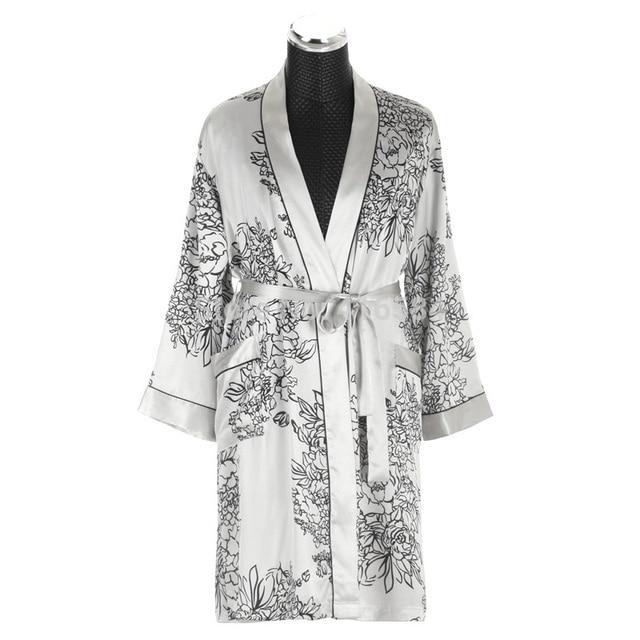 28 21 Robe Kimono Soie Homme Robe De Chambre Satin Peignoir Homme Peignoir Homme Manches Longues Satin Vêtements De Nuit M Xxl Dans Robes De