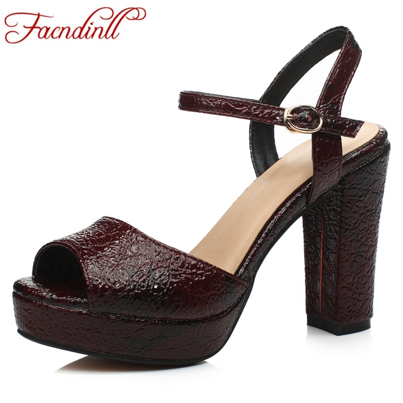 FACNDINLL genuine leather sandals for women new fashion high heels peep toe platform shoes woman dress party gladiator sandals woman fashion high heels sandals women genuine leather buckle summer shoes brand new wedges casual platform sandal gold silver