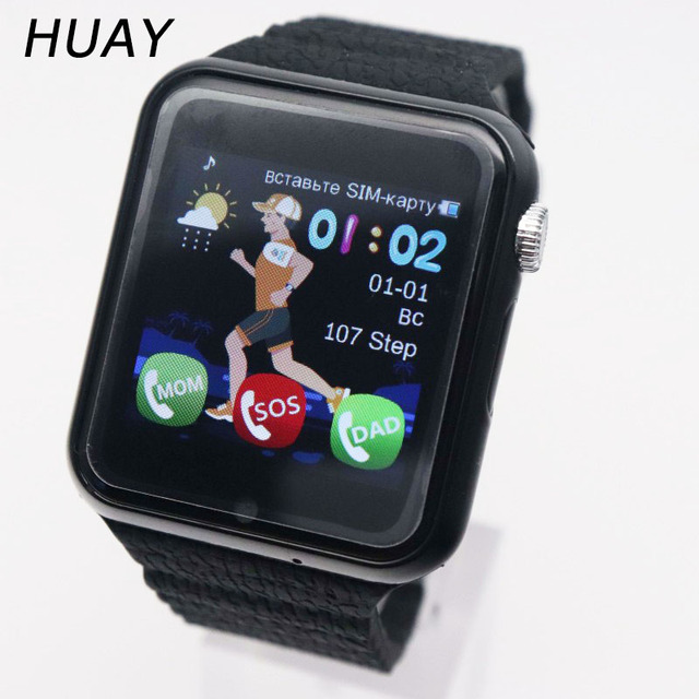 "kids GPS tracking smart watch waterproof watches 1.54"" touch screen camera SOS C"