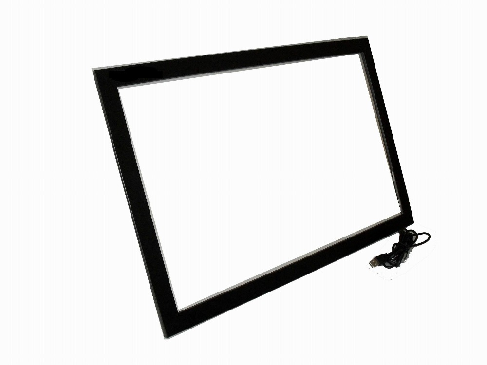 HOT! 32 inch usb multi touch screen overlay panel kit for LCD& Monitor, USB power, ir touch frame for touch table, kiosk etc 17 touch panel kit