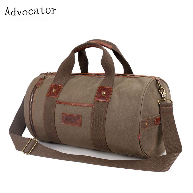 Augur Travel 20L Large Capacity Shoulder Bag Women Cylindrical Duffel Bag Male Canvas Tourism 17Inch Luggage Bag