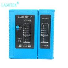 Профессиональный тестер RJ45 кабельного кабеля lan тестер сетевого кабеля RJ45 RJ11 RJ12 CAT5 CAT6 UTP тестер кабеля LAN Сетевой Инструмент
