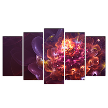 Home Decor HD Prints Canvas Painting 5 Pieces Flowers Wall Art Modular Landscape Pictures Bedside Background Artwork Poster