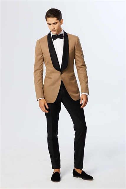 Последние конструкции пальто брюки шампанское Блейзер Черный нагрудные Жених смокинги для женихов итальянский стиль Мужские Свадебные Вечерние Пром