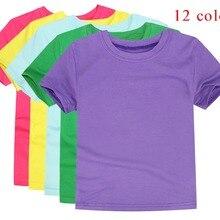 Футболки для мальчиков; Простые топы для девочек; Детские хлопковые футболки с короткими рукавами; командная одежда; OEM ODM; футболки; одежда для малышей
