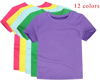 Boys T Shirts Girls Plain Tops Children Short Sleeve Cotton Blanket T-shirts Team Clothes OEM ODM Tees Baby Clothes