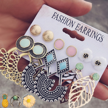 US $1.67 45% OFF|IF ME Vintage Stud Earrings Set Mixed for Women Bohemian Gold Color Leaf Flower Stone Statement Hang Brincos Jewelry 2018 NEW-in Stud Earrings from Jewelry & Accessories on Aliexpress.com | Alibaba Group