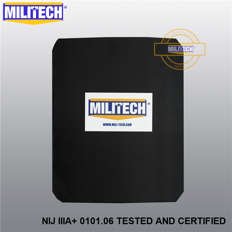 MILITECH NIJ IIIA+ Bulletproof Insert Steel Bullet Proof Plate Ballistic Backpack Student Bag Ballistic Steel Panel Insert