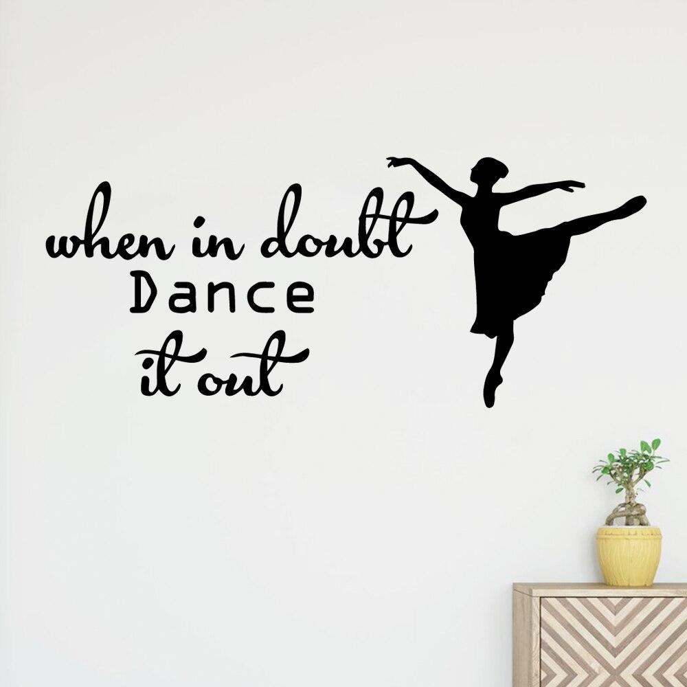 Avião dançarina Adesivo Adesivo de Parede de Vinil Autocolantes Decoração de Casa Para Quartos Dos Miúdos Home Decor Diy Decoração da Casa adesivo de parede