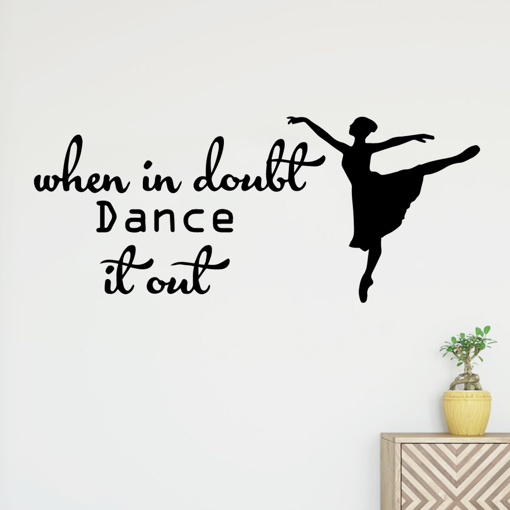 Plane Sticker dancer Vinyl Wall Sticker Home Decor Stikers For Kids Rooms Home Decor Diy Home Decoration adesivo de parede in Wall Stickers from Home Garden