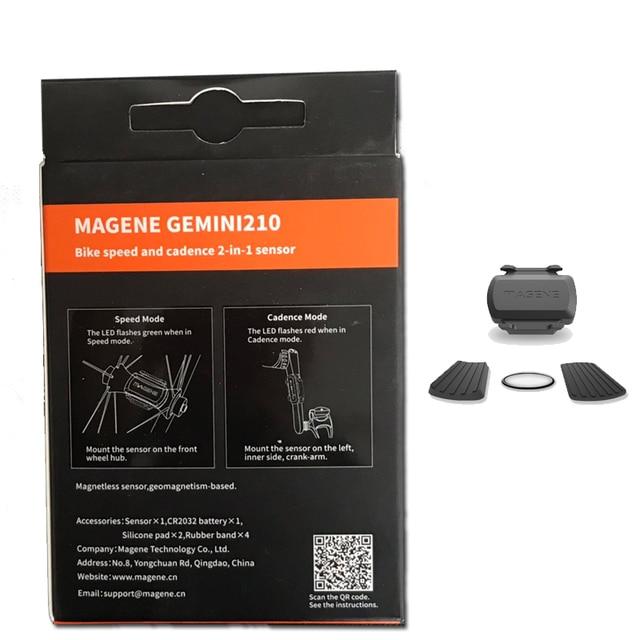 MAGENE bilgisayar kilometre ANT + hız ve ritim çift sensör bisiklet hız ve ritim ant + uygun GARMIN iGPSPORT bryton