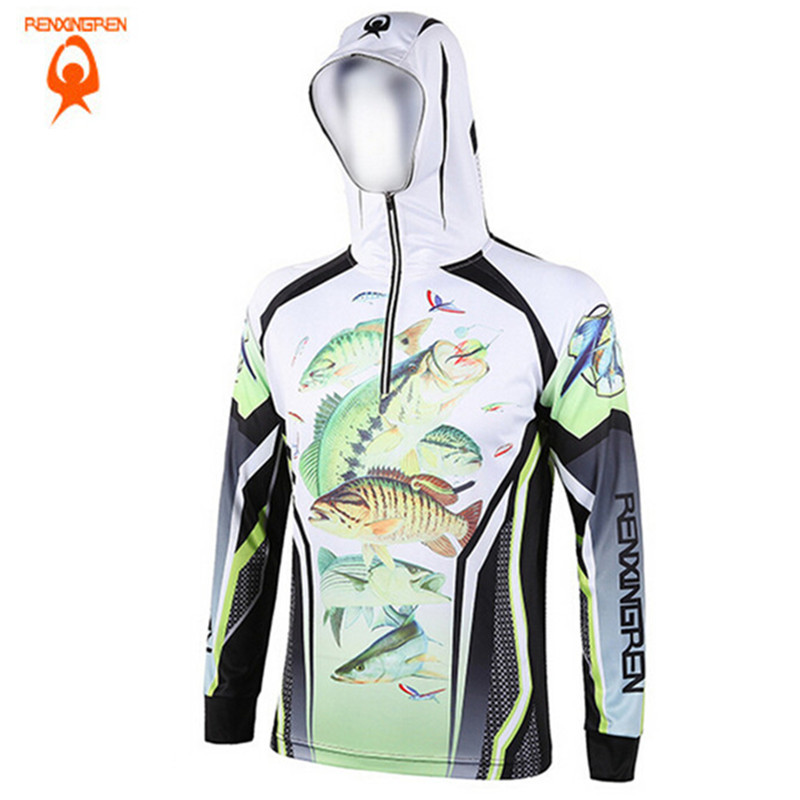 2018 Men Women Hiking climbing Anti UV Breathable Quick drying Professional Clothes Digital Printing Fishing Sweatshirts