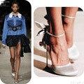 2017 Sexy Mujer Zapatos de Tacones Altos Hebilla Sapato Feminino Bowtie Zapatos Mujer Moda Zapatos de Satén Zapatos de Las Mujeres de La Boda Bombas Sólidas