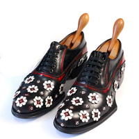 «Bullock» классические высокого класса ручной работы кожа мужская обувь Свадебные красная вишня Швейные мужские туфли