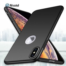все цены на Luxury Plastic Matte Phone Case For iPhone 8 plus X XS Hard PC Cases Shockproof Back Cover for iPhone 7 6 6s plus XS MAX XR XS 8