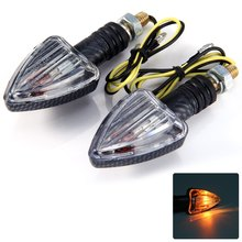2pcs 12V Motorcycle Arrow Shaped Amber Turn Signal Indicator Light Compatible with E-marked BA9S Bulb for Any Street Motorcycle