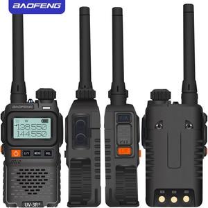 Image 4 - Baofeng UV 3R + מיני רדיו ילד ווקי טוקי UV 3R Dual Band VHF UHF נייד שתי בדרך רדיו חם Hf משדר UV 3R Wokï טוקי