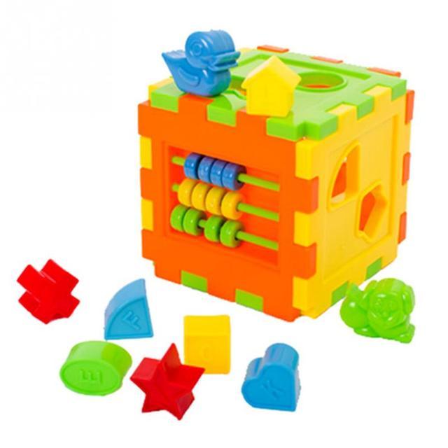 Beliebt Enfant DIY Éducatifs Jouer Jeux Animal Forme Alphabet Bloc Cube  ET82