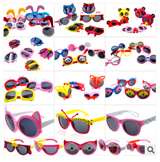 f03736a12 3pcs/lot 2015 child kids baby character cartoon sunglasses boy folding  oculos gilr illesteva children goggles UV400 frog glasses
