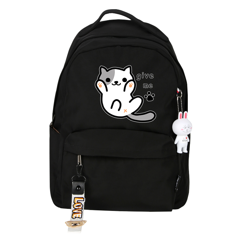 Image 3 - High Quality Neko Atsume Women Cat Backpack kawaii Cute Backpack Pink School Bags Cartoon Travel Backpack Laptop BackpackBackpacks   -