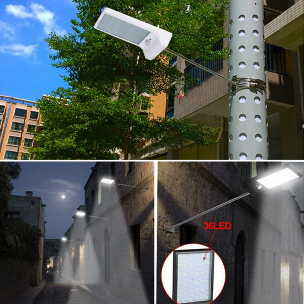 remote waterproof solar sensor control led motion new with light security lighting wide item angle