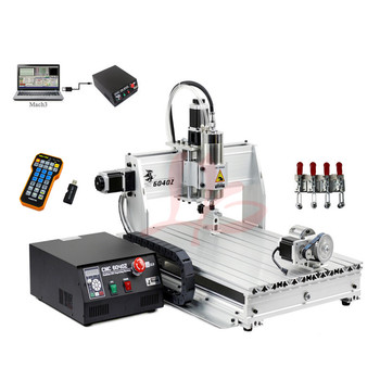 Free Shipping 4 Axis CNC 6040 Z-S80 engraver with rotary axis and 1.5KW spindle, four axis cnc6040 for 3d cnc 4 axis cnc 6040 z s80 engraver router milling lathe machine with rotary axis and 1 5kw spindle four axis cnc6040 for 3d cnc