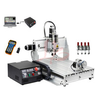 Free Shipping 4 Axis CNC 6040 Z S80 engraver with rotary axis and 1.5KW spindle, four axis cnc6040 for 3d cnc