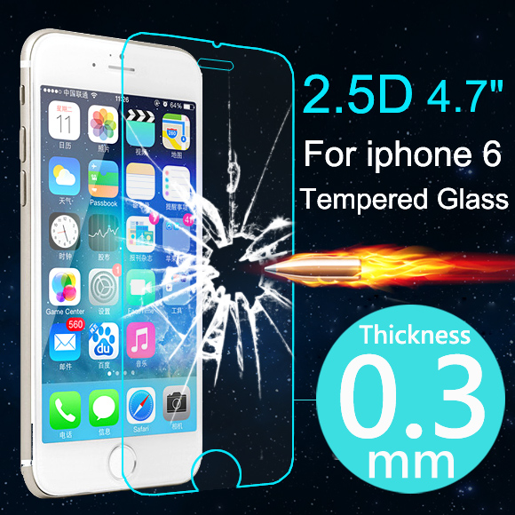 Top Quality 0.3mm HD Ultrathin Premium Tempered Glass Screen Protector For iphone 6 6s Plus Protective Film Case For iPhone 6 6s