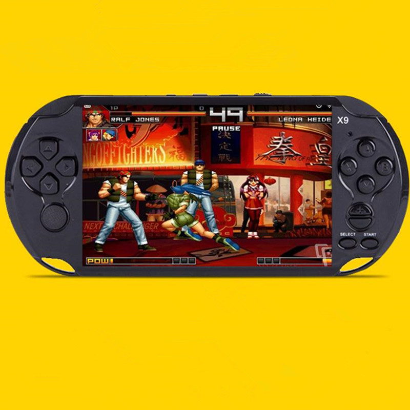 Hot Selling 5 inch Handheld Gamepad Children  puzzle Game Console  Quad Core IPS Screen Tablet PC 8GB RAM With camera MP4 / 5 pl