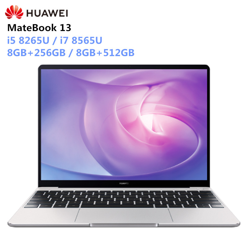 HUAWEI MateBook 13 Laptop Windows 10 Intel Core I5-8265U / I7-8565U 8GB RAM 256GB/512GB SSD Notebook 2160x1440 IPS Screen