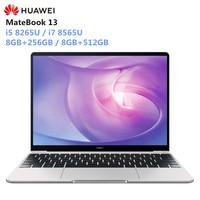 Presale HUAWEI MateBook 13 Laptop Windows 10 Intel Core i5 8265U/i7 8565U 8GB RAM 256GB/512GB SSD Notebook 2160x1440 IPS Screen