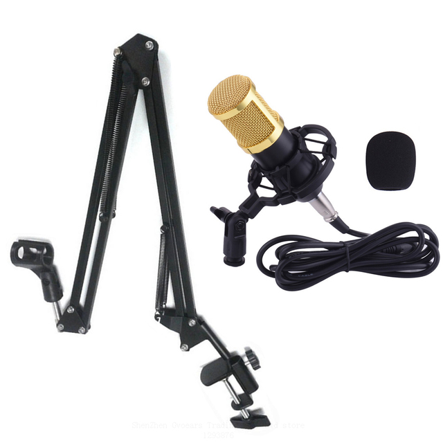Microphone  Stand For Computer Studios PC  Professional 3.5mm Wired Sound Recording Condenser