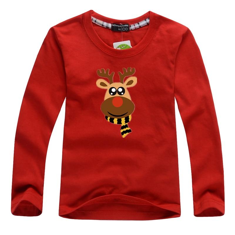 Navidad niños niñas camisetas 1-8Yrs bebé Christma Milu Deer ropa 100% algodón niños Ropa Camisetas de manga larga