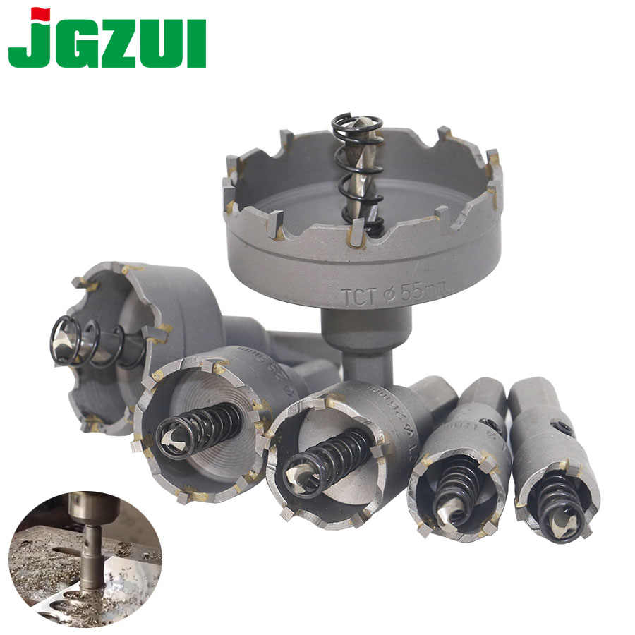 Carbide Tip TCT Drill Bit Hole Saw Stainless Steel Metal Alloy 16-100mm