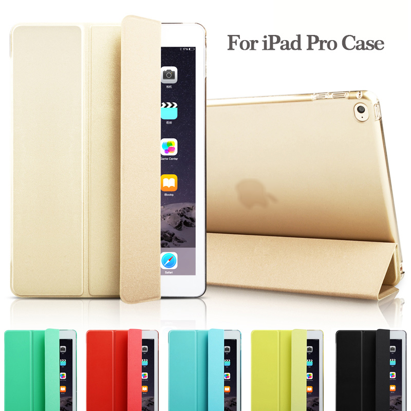 Fashion Ultra Slim Magnetic Front Smart Case Skin + Hard PC Back Cover For iPad Pro 12.9 9.7 (Not fit 2017 New Pro 12.9 2th ) surehin nice smart leather case for apple ipad pro 12 9 cover case sleeve fit 1 2g 2015 2017 year thin magnetic transparent back