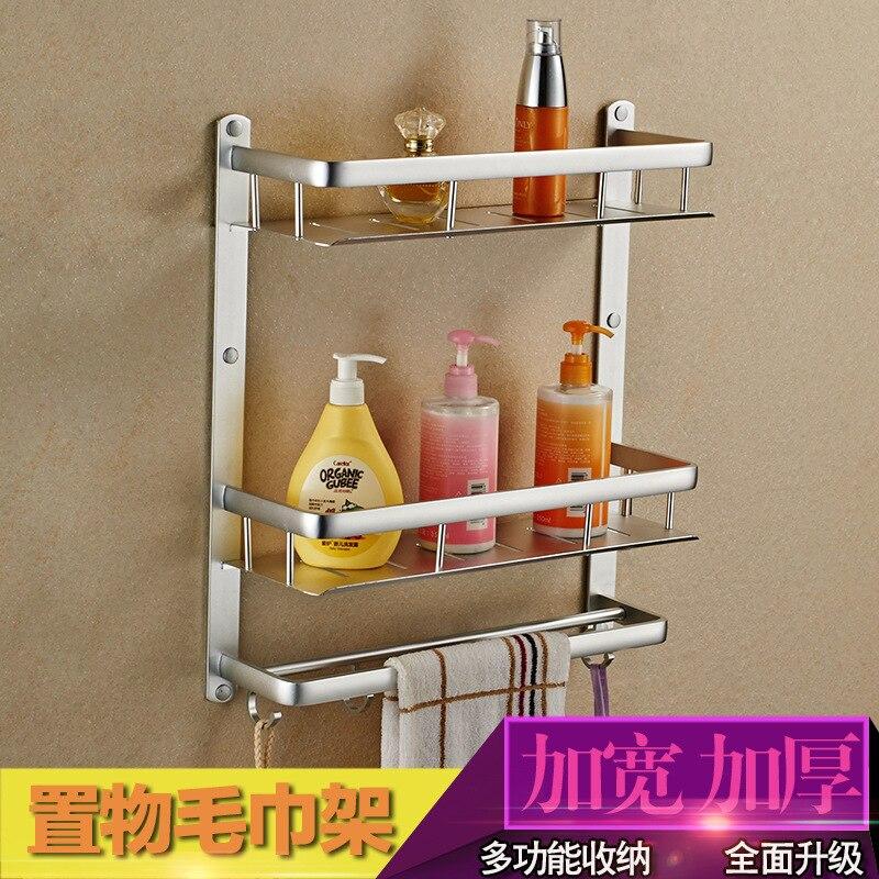 Bathroom Shelf 40cm Length Silver Aluminum Bathroom Corner Shelf ...