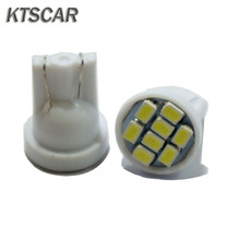 KTSCAR 100 шт. продвижение белый светодиод T10 8 smd лампы Автомобильный светильник 194 168 192 W5W 3020 Авто Клин светильник ing 12V габаритные огни