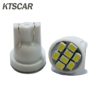 KTSCAR 100pcs Promotion white Led T10 8 smd bulbs Car Light 194 168 192 W5W 3020 Auto Wedge lamp Lighting 12V Clearance Lights