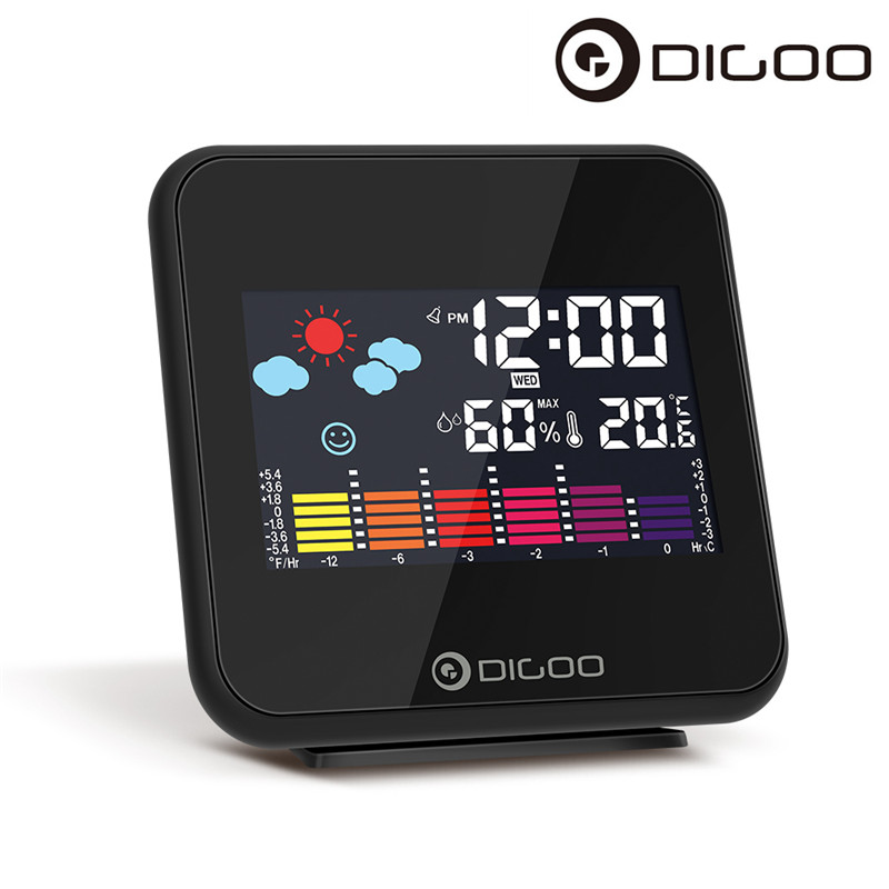 Digoo DG-C15 Digital Wireless Backlight Weather Forecast Alarm Station Clock USB Hygrometer Thermometer Weather Station Clock