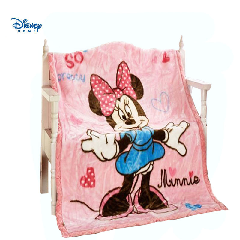 cute minnie mouse disney blanket throw 110*140cm sofa bed traval Coral Fleece fabric bed covers girl children home decor linens