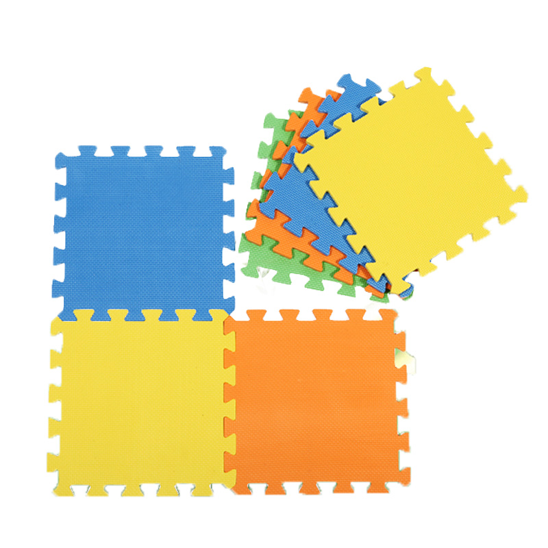 9 Pieces Solid Color Skidproof Foam Mat Puzzle Baby