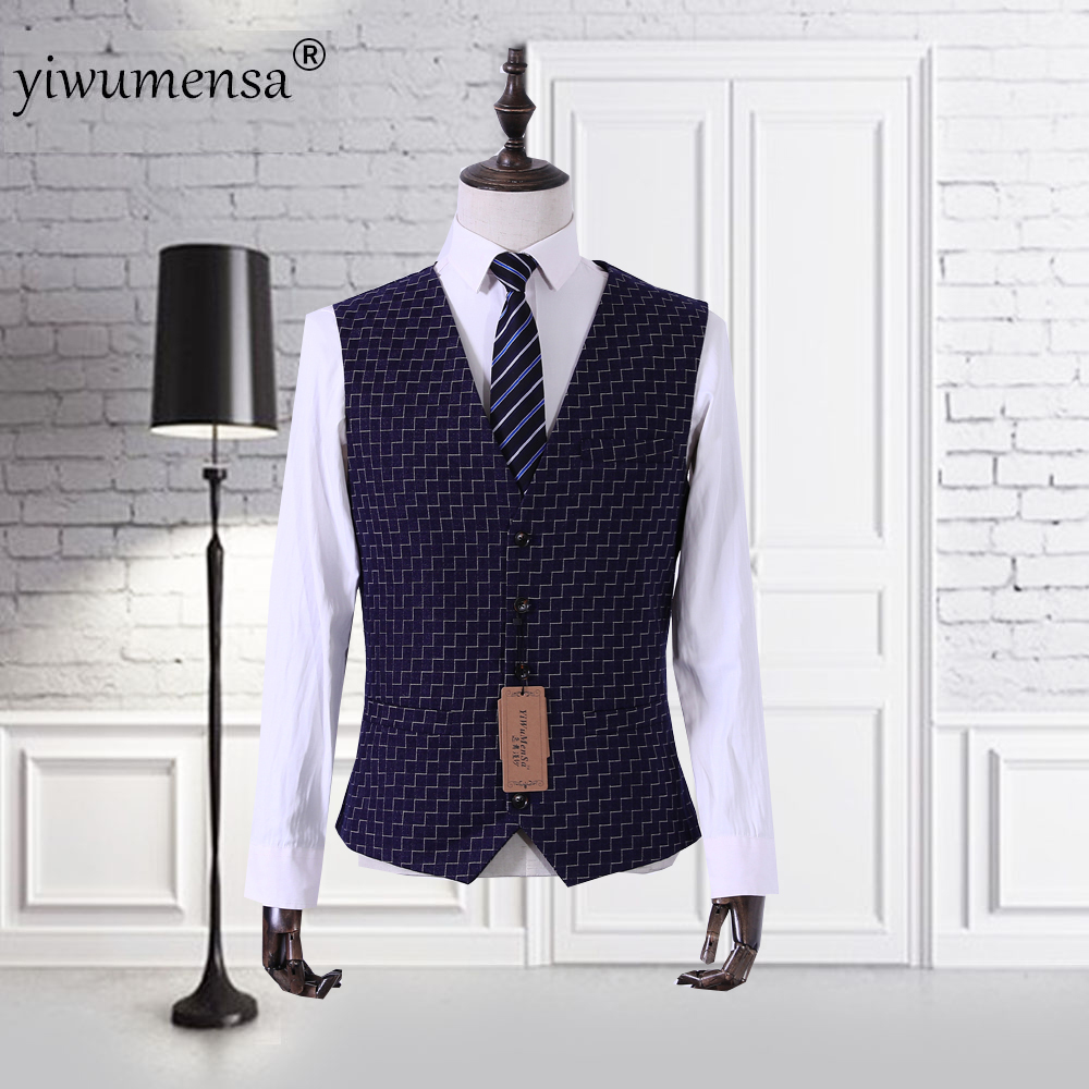 Costume Slim-Fit Suit Vests Business Wool Wedding Yiwumensa Gilet Social Last Fashion